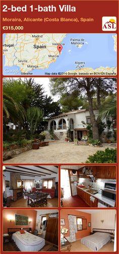 2-bed 1-bath Villa in Moraira, Alicante (Costa Blanca), Spain ►€315,000 #PropertyForSaleInSpain