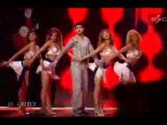 Greece's entry live at the Eurovision song contest final Sarbel - Yassou Maria