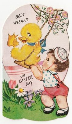 postcard.quenalbertini: Vintage Easter Card (A295) | eBay