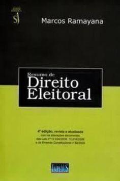 Resumo de Direito Eleitoral  https://www.amazon.com.br/dp/8576262525/ref=cm_sw_r_pi_dp_x_Aqy8ybAQHATTZ