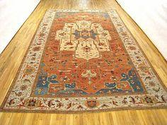 "Persian: Geometric 18' 3"" x 11' 2"" Antique Persian Serapi at Persian Gallery New York - Antique Decorative Carpets & Period Tapestries"