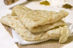 Guyanese Roti | Light and flaky Guyanese roti. Perfect for scooping up warm West Indian curry. @munchinmunchkin