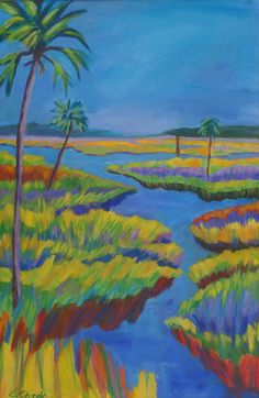 Tropical Palm Tree Marsh