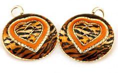 Luxusné zlaté náušnice tigrový vzor TIGER PATTERN