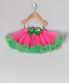Take a look at this Pink & Kelly Green Pettiskirt - Infant, Toddler & Girls by Miss Fancy Pants on #zulily today!
