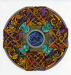 I've been taken recently by the ancient Celtic practice of honoring an Advent that is really the 40 days before Christmas - an early paral. Celtic Mandala, Celtic Art, Mandala Art, Celtic Circle, Celtic Dragon, Celtic Patterns, Celtic Designs, Design Celta, Celtic Symbols