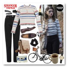 """""""Stranger Things: Nancy Wheeler 2"""" by shehanisamara ❤ liked on Polyvore featuring Jayson Home, Miss Selfridge, Roxy, Bloomingdale's, Vagabond Traveler, CO, Dorothy Perkins, Forever 21, Burberry and Chanel"""