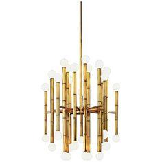 Jonathan Adler Meurice Collection 30-Light Brass Chandelier - #G2626 | LampsPlus.com