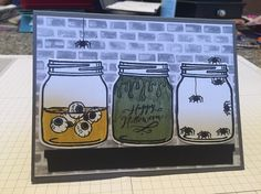 Halloween Card- Jar of Haunts (using all Stampin Up products)