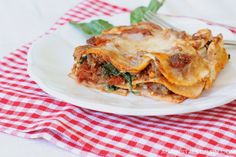 Lasagna with Homemade Grain-Free Noodles Gluten Free, Paleo, Grain Free, Low Carb, SDC Ok - Against All Grain Paleo Lasagna, Gluten Free Lasagna, Homemade Lasagna, Homemade Pasta, Against All Grain, Primal Recipes, Whole Food Recipes, Cooking Recipes, Healthy Recipes