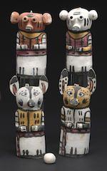 Bonhams : Two Hopi kachina dolls