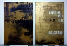 two black/gold by Michael Bevilacqua - 2014