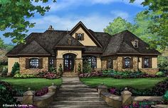The Spencer Hall House Plan - Front Color
