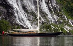 View the latest images, news, price & similar yachts for charter to WISP. sailing yacht WISP (Hull is a beautiful, classic sloop built by the Dutch shipyard Royal Huisman, with launch in Classic Sailing, Classic Yachts, Classic Boat, Classic Style, Luxury Sailing Yachts, Volvo Ocean Race, Best Boats, Super Yachts, Sail Away