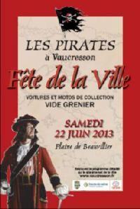 Les pirates à Vaucresson, fête de la ville 2013. Le samedi 22 juin 2013 à Vaucresson.