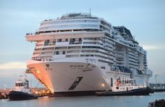 MSC Meraviglia in the final stages of construction