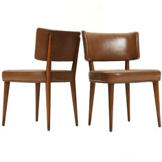 the bridge chair by Edward Wormley for Dunbar Game Room Chairs, Dining Room Chairs, Antique Chairs, Vintage Chairs, Modern Chairs, Modern Furniture, Furniture Design, Edward Wormley, Balcony Table And Chairs