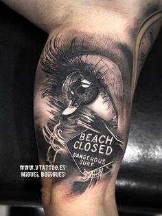 Eye surf tattoo - Miguel Bohigues Vtattoo