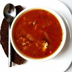 Томатный суп из  морепродуктов