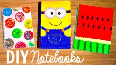 DIY NOTEBOOKS for Back to School 2015 | Easy DIY School Supplies