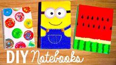 DIY NOTEBOOKS for Back to School 2015 | Easy DIY School Supplies