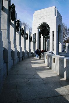 Pacific Tower, World War II Memorial, Washington, DC; photo by .Bob Anderson