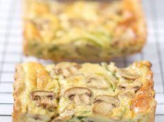Découvrez la recette Quiche aux courgettes et champignons sur cuisineactuelle.fr.