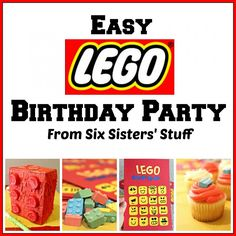 Easy Lego Birthday Party from SixSistersStuff.com. If you are looking for a budget friendly party, then this is for you!  And the kids will LOVE it!