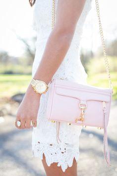 Love this blush pink mini mac bag!