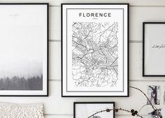 Florence Map Print Florence City Mappa by GalaDigitalPrints