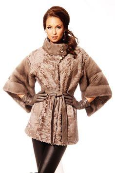Pastel Mink and Persian Lamb Fur Jacket
