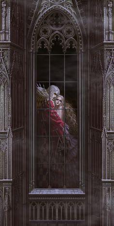 ideas for fantasy art vampire character design Dark Fantasy Art, Fantasy Artwork, Dark Art, Game Character Design, Character Art, Castlevania Anime, Fantasy Couples, Vampire Art, Vampire Love