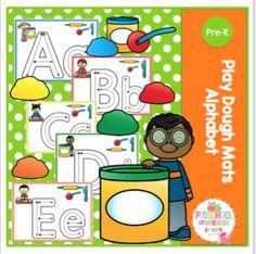 Alphabet Play Dough Mats By GwynJuly 23, 2017 // No commentsAlphabet Play Dough Mats