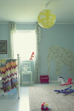 Wallpapers and fabrics for childrens room www.dekorama.lt