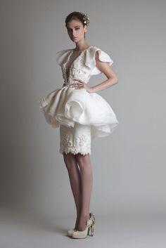 krótka #suknia od #Krikor #Jabotian