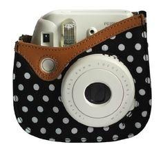 Colorful Dots Spot Camera PU Leather Case Bag For Fujifil...