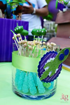 Amazing Toy Story party decor. Look at photo slideshow of this party.