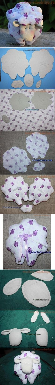 DIY Fabric Sheep Toy...use fuzzy material...