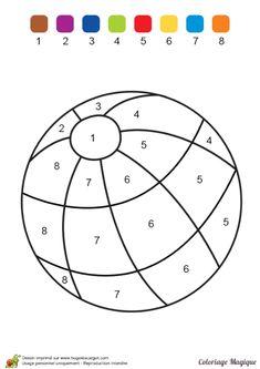 Kindergarten Math Worksheets, Preschool Learning Activities, Kindergarten Writing, Preschool Lessons, Preschool Activities, Kids Learning, Color By Numbers, Alphabet For Kids, Learning Numbers