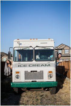 bride & groom in ice cream truck :) Sarah Jozsa Photography