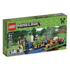LEGO Minecraft Building Game Play Set Kit, The Farm, 262 LEGO Pieces, New