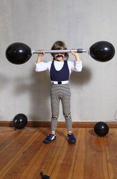 Vintage Zirkus Gewichtheber Kostüm selber machen | Kostüm-Idee zu Karneval, Halloween & Fasching