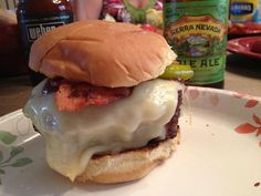 Big ol' burger and some beery goodness.  Sierra Nevada Pale Ale.  #BeerMe
