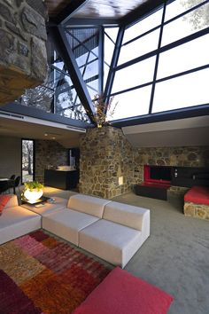 Living Room At Under the Moonlight By Giovanni D'Ambrosio Architects