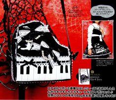 DIY Elegant Gothic Lolita Piano Purse Sewing Patterns PDF. $2.90, via Etsy.
