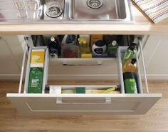 Under Sink Storage Drawer Under Sink Drawer, Under Sink Storage, Kitchen Sink, Kitchen Storage, Kitchen Cabinets, Burford Grey Kitchen, Howdens Kitchens, Kitchen Cabinet Accessories, Shaker Style Cabinets