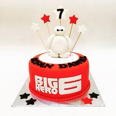 Big Hero 6 Baymax Birthday Party Food Ideas and Recipes,Big Hero 6 Baymax Birthday Party Cakes 6th Birthday Parties, Birthday Diy, Birthday Cake, Birthday Ideas, Big Hero 6 Party Ideas, Big Hero 6 Baymax, Cake Decorating Supplies, Disney Cakes, Occasion Cakes