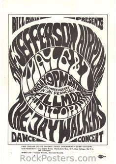 - Jefferson Airplane Handbill - Fillmore Auditorium - Go Ask Alice - Flugzeug Rock Posters, Concert Posters, Type Posters, Band Posters, Music Posters, Wes Wilson, Fillmore Auditorium, Poster Fonts, Shopping