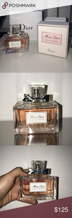 DIOR Miss Dior Absolutely Blooming Eau De Parfum Miss Dior Absolutely Blooming Eau de Parfum, worn three times but pretty much unused, about 3.4 ounces, comes with original box and Dior bag Dior Makeup