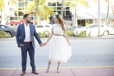 Sweet and simple Miami Beach Courthouse wedding captured by Heather Funk Photography
